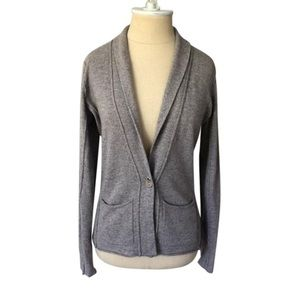 Autumn Cashmere oatmeal single button cardigan S